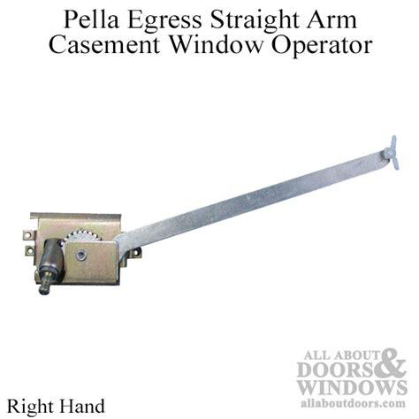 pella egress casement window operator straight arm  hand