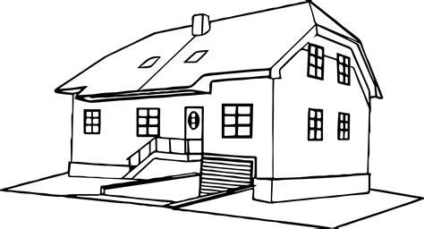 house coloring page  wecoloringpagecom