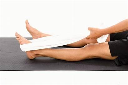 Towel Stretch Calf Knee Using Extended Vissco