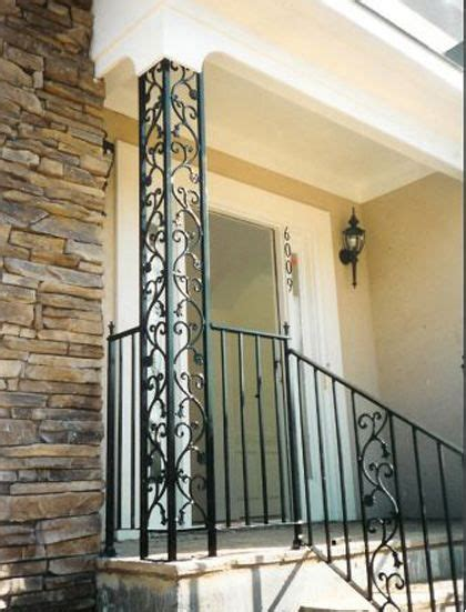 Decorative Front Porch Columns - add curb appeal to your midcentury home with ornamental