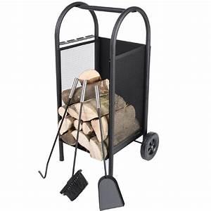 Panier Pour Bois : chariot bois pour chemin e avec accessoires ~ Teatrodelosmanantiales.com Idées de Décoration