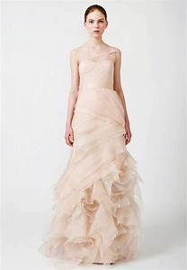 Vera Wang Pink Wedding Dresses Pattern - Inofashionstyle.com