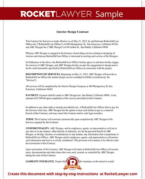 interior design contract interior design contract agreement template with sle