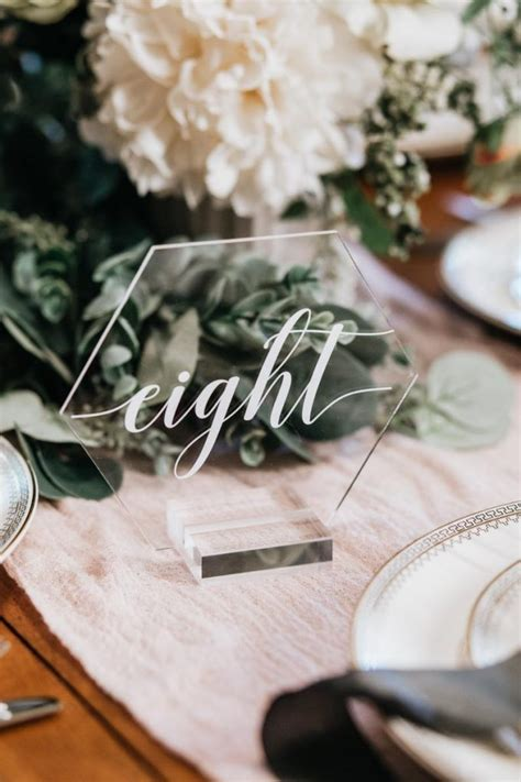 18 Unique Wedding Table Numbers That Look Beautiful