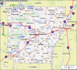 Arkansas Road Map with Cities