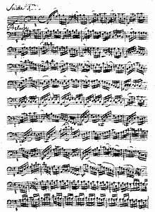 BACH, J S Cello Suite #1 in G (Manuscript)