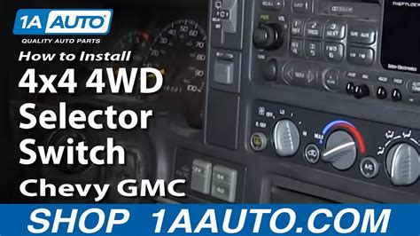 replace wd selector switch   chevy tahoe youtube