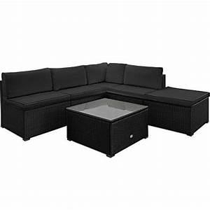Garten Lounge Kissen : li il polyrattan garten lounge mit tisch und kissen schwarz ~ Markanthonyermac.com Haus und Dekorationen