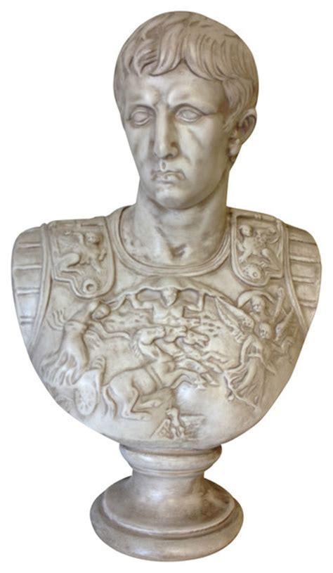 Caesar Augustus Bust Famous Reproduction Statue Roman