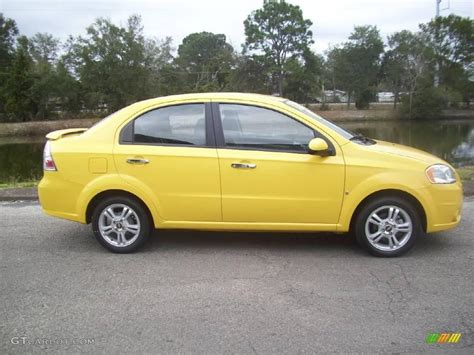 2009 Summer Yellow Chevrolet Aveo Lt