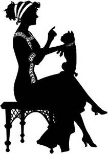 Vintage Lady Silhouette