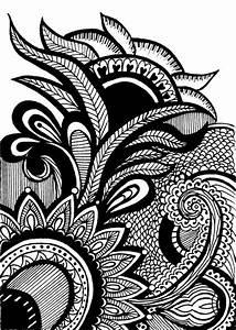 Henna Mehndi Drawing 8x10 Print Original Design by ...