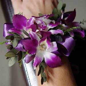 Purple orchids, Wrist corsage and Orchids on Pinterest