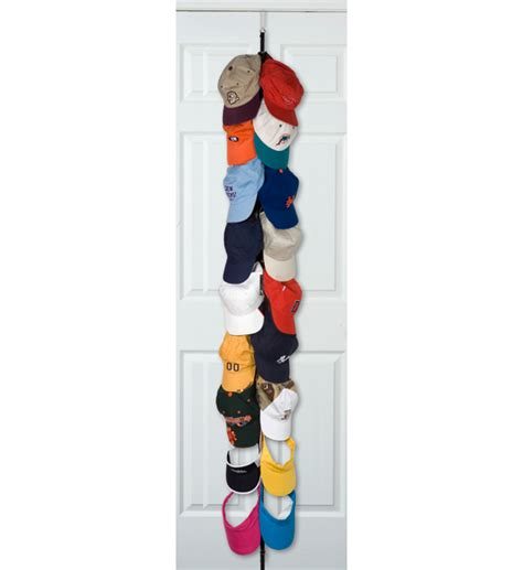the door closet organizer in baseball hat racks