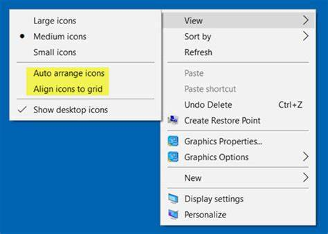 You Make To Select Some Icons desktop icons rearrange and move after reboot in windows 10