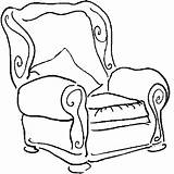 Coloring Sofa Armchair Pages Chair Furniture Designlooter Drawings 679px 72kb sketch template