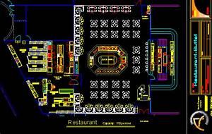 Buffet Restaurant With Floor Plans 2D DWG Design Plan for