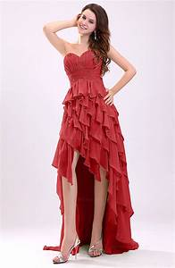 red gorgeous sweetheart lace up chiffon knee length With knee length dresses for wedding guests