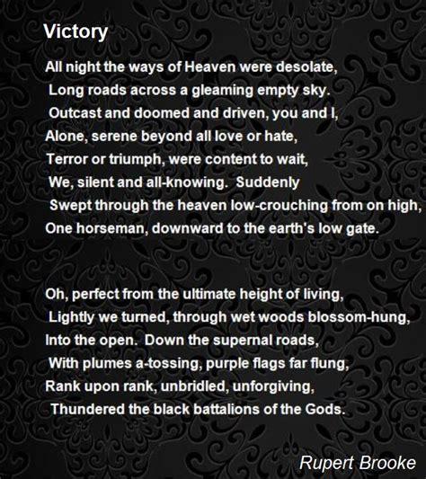 victory poem  rupert brooke poem hunter