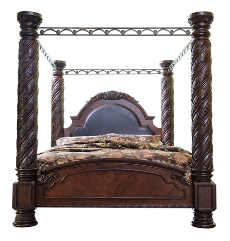 ashley furniture north shore king poster bed  classy home