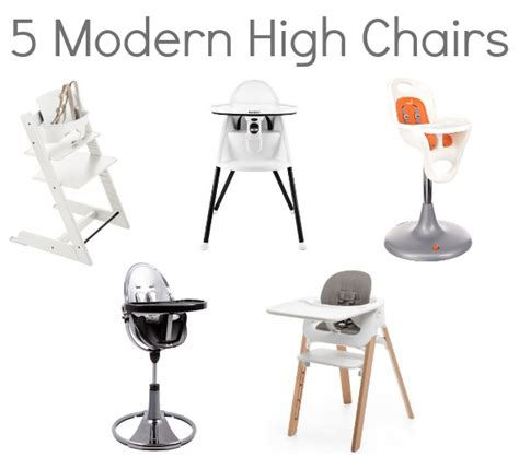 5 modern high chairs for the modern home savvy sassy