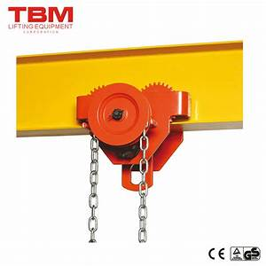 China Monorail Beam Trolley Gear  Manual Trolley 1 Ton