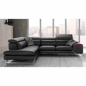 canape d39angle avec grande meridienne cuir haut de gamme upper With tapis design avec canape angle meridienne cuir