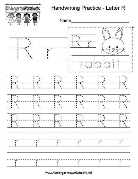 Letter R Writing Worksheet For Kindergarten Kids This Series Of Handwriting Alphabet Worksheets