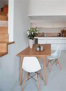 Table Cuisine Grise : peinture sol pour repeindre carrelage escalier et parquet ~ Teatrodelosmanantiales.com Idées de Décoration