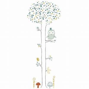 Stickers Arbre Chambre Bébé : sticker enfant xl arbre chouette lilipinso ma chambramoi ~ Melissatoandfro.com Idées de Décoration