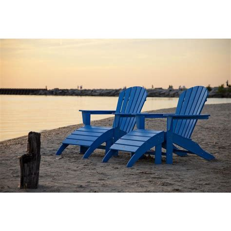 Blue Plastic Adirondack Chairs Home Depot by Polywood South Pacific Blue Plastic Patio Adirondack