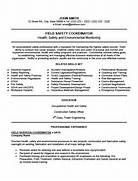Field Safety Coordinator Resume Template Premium Resume Samples Professional Construction Safety Officer Templates To Showcase Your Sample Resume Hse Manager Resume Exles Safety Officer Mri Tech Funny Quotes QuotesGram