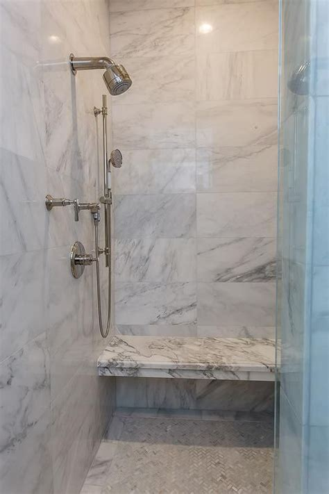 tile shower kits beautiful walk in shower boasts a marble shower surround 2774