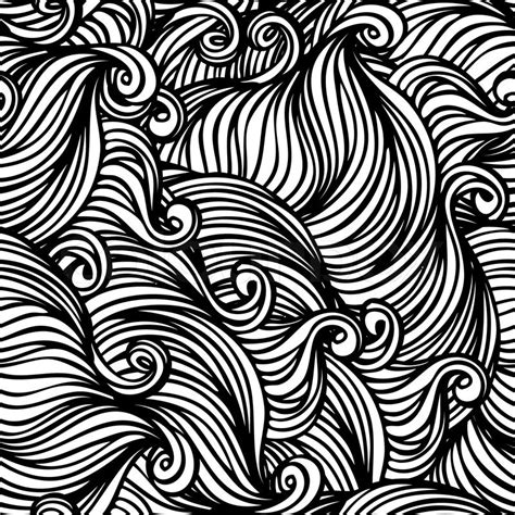 Abstract Black Pattern by Vector Seamless Black And White Stock Vector Colourbox