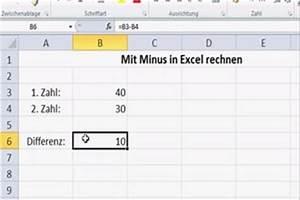 Excel Arbeitszeit Berechnen Formel : video mit minus in excel rechnen so geht 39 s ~ Themetempest.com Abrechnung