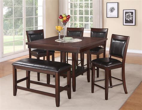 bar height table 6 chairs cm fulton 6 pc counter height table chair bench set