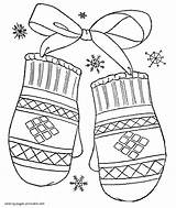 Coloring Winter Pages Preschool Clothes Printable Clothing Scarf Template Mittens Seasons Templates Library Clipart sketch template