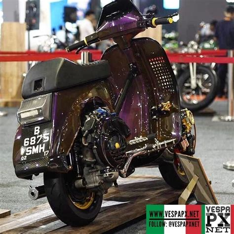 purple unique custom racing vespa px madascooter vespa px