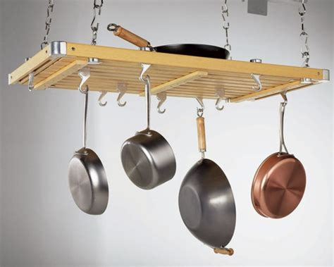 Pot And Pan Holders Ceiling by 10 Ceiling Pot Racks 100 Kitchn