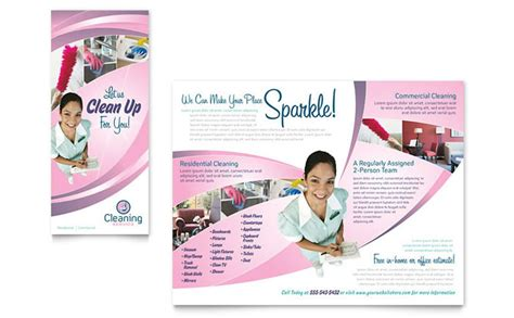 Cleaning Company Flyers Template by House Cleaning Services Brochure Template Design