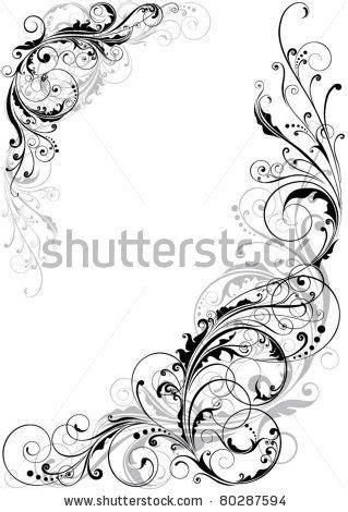 Swirl floral design by Milen , via Shutterstock (With images) | Art, Flourish design, Vector art