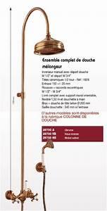 Colonne De Douche Retro : ensemble complet de douche thermostatique retro paini ~ Dailycaller-alerts.com Idées de Décoration