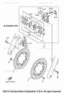 Yamaha Motorcycle 2004 Oem Parts Diagram For Front Brake