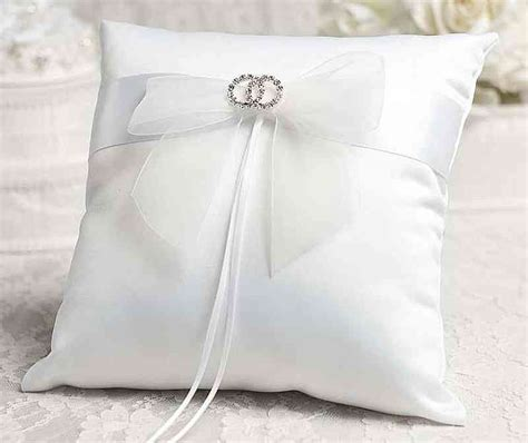 rhinestone rings wedding ring bearer pillow wedding