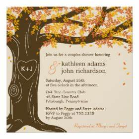 oak tree wedding invitations rustic country wedding With free wedding invitation templates tree