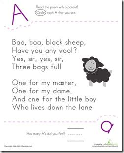 preschool alphabet nursery rhyme abcs 882 | Letter%252520A%252520Baa%252520Baa%252520Black%252520Sheep thumb%25255B4%25255D