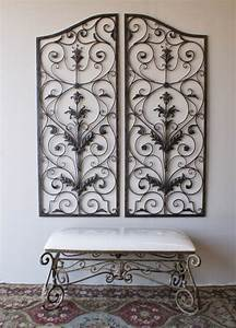 Grille Metal Decorative : tuscan 60 indoor outdoor wrought iron wall grille set wall art wall plaque ebay ~ Teatrodelosmanantiales.com Idées de Décoration