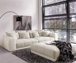 Big Sofa 240 Breit : big sofa valeska 310x135 mit hocker grau cremeweiss m bel sofas big sofas ~ Markanthonyermac.com Haus und Dekorationen