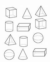 Shapes 3d Coloring Name Above These sketch template
