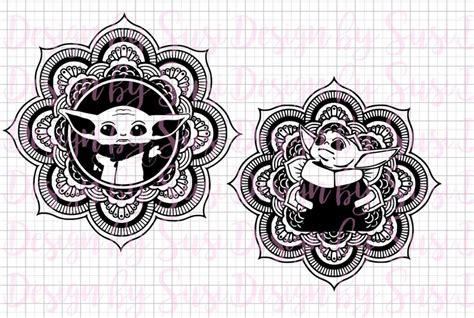 Mandala svg 3d layered mandala svg cut file 5 layers 516182. Baby Yoda Mandala SVG Yoda SVG and PNG Mandala Baby   Etsy